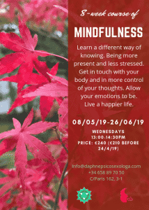 Mindfulness English at Therapy in Barcelona